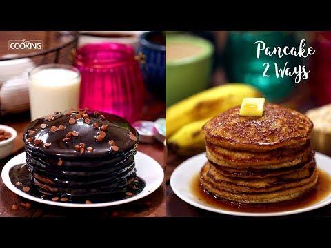 Pancake 2 Ways   Chocolate Pancake   Banana Oatmeal Pancake