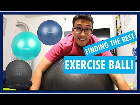 TRIDEER EXERCISE BALL REVIEW IT IS IMPORTANT TO PICK THE RIGHT STABILITY BALL FOR EXERCISE!