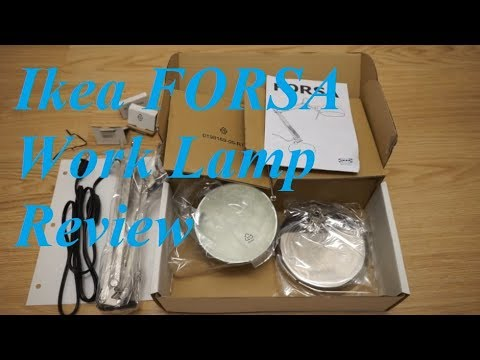 Ikea forsa work lamp review youtube