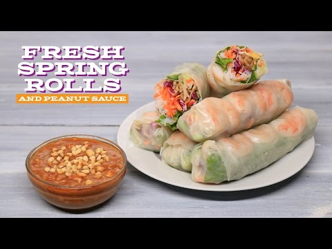 Chagi | Fresh Spring Rolls and Peanut Sauce