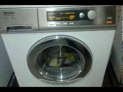 miele pw 6065 vario lp start of the mainwash youtube. Black Bedroom Furniture Sets. Home Design Ideas