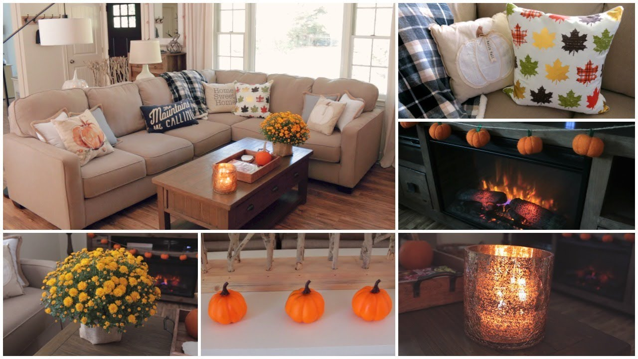 Fall Decor   My Fall Living Room Tour   YouTube Fall Decor   My Fall Living Room Tour