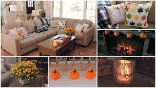 Fall Decor - My Fall Living Room Tour