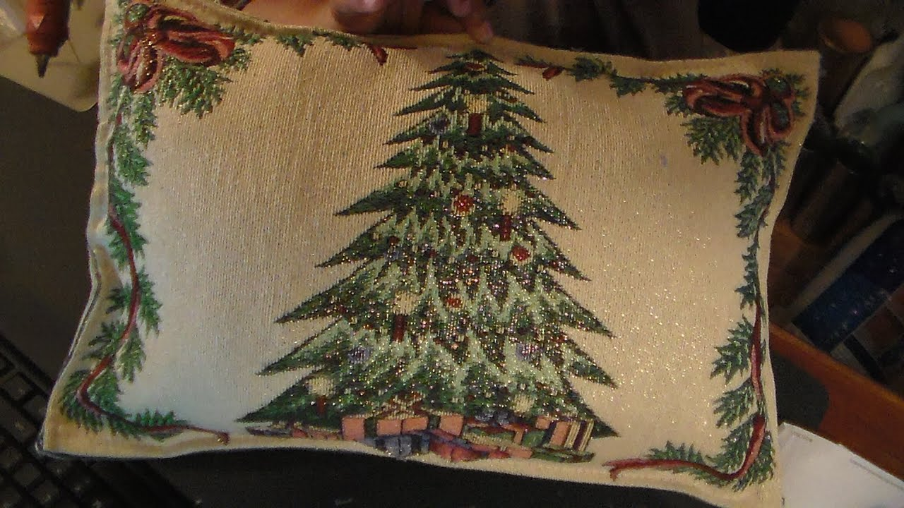 diy cheap and easy christmas pillows youtube