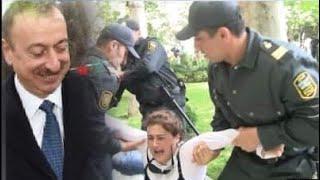 Polislər İlham Əliyevin qarşısına çıxmaq istəyən yaşlı qadını sürüdülər