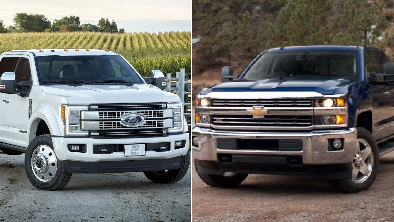 2017 Ford Super Duty VS Silverado Duramax 2500 / 3500  YouTube