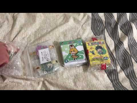 Used Anime Rubber Keyring Charms Unboxing | 13-08-18 | My Hero Academia, Kemono Friends