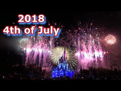 NEW 2018 4th of July Fireworks - Finale & Highlights - Magic Kingdom - Celebrate America