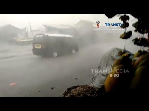 Hujan Es & Angin Kencang Landa Sukabumi