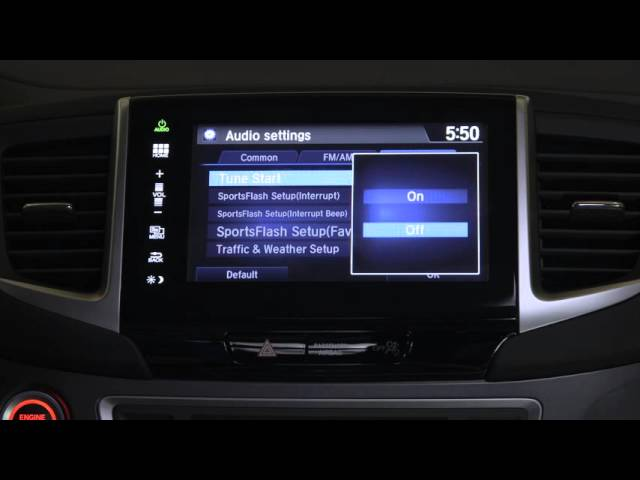 2016 Honda Pilot Tips & Tricks: XM Radio Tune Start Feature