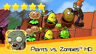 Plants vs  Zombies™ HD ROOF Level 04 Walkthrough The zombies are coming! Recommend index five stars