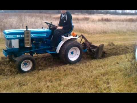 Ford 1210 Sub Compact Tractor Rototilling Youtube