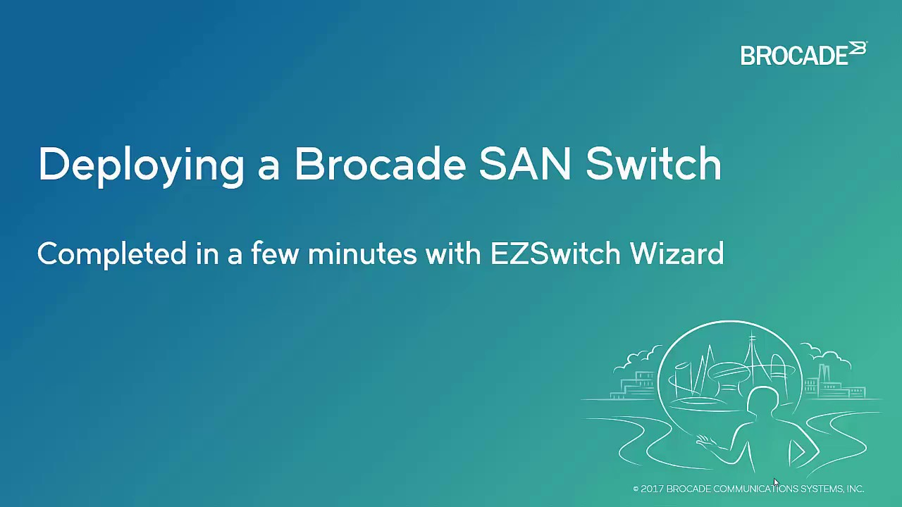 How to set up a Brocade storage area networking switch