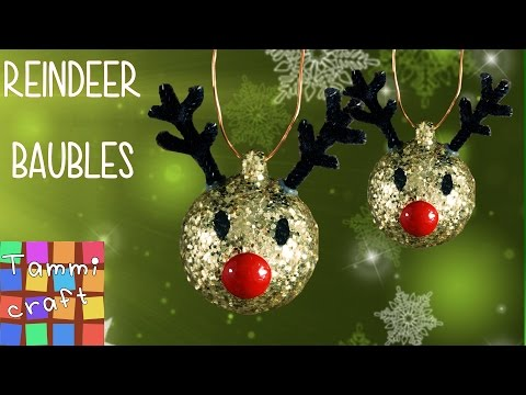 DIY: Christmas Tree Reindeer Decoration