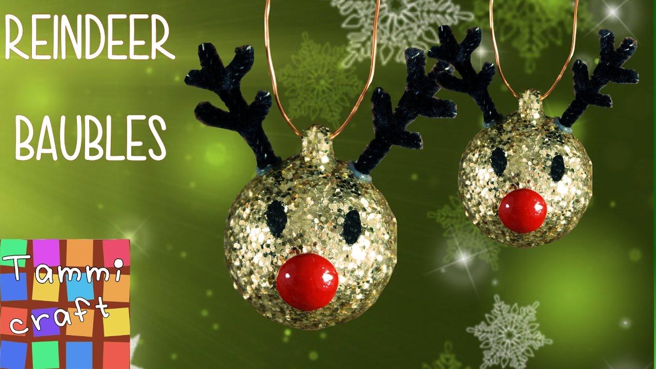 Diy Christmas Tree Reindeer Decoration Youtube