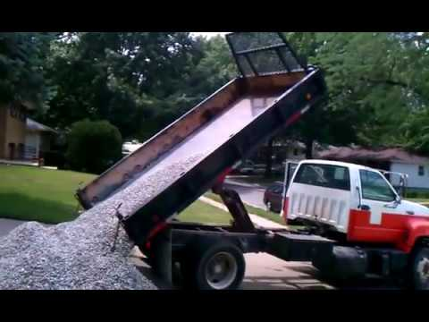 How Much Is A Ton Of Gravel >> 4 tons of gravel in my driveway - YouTube
