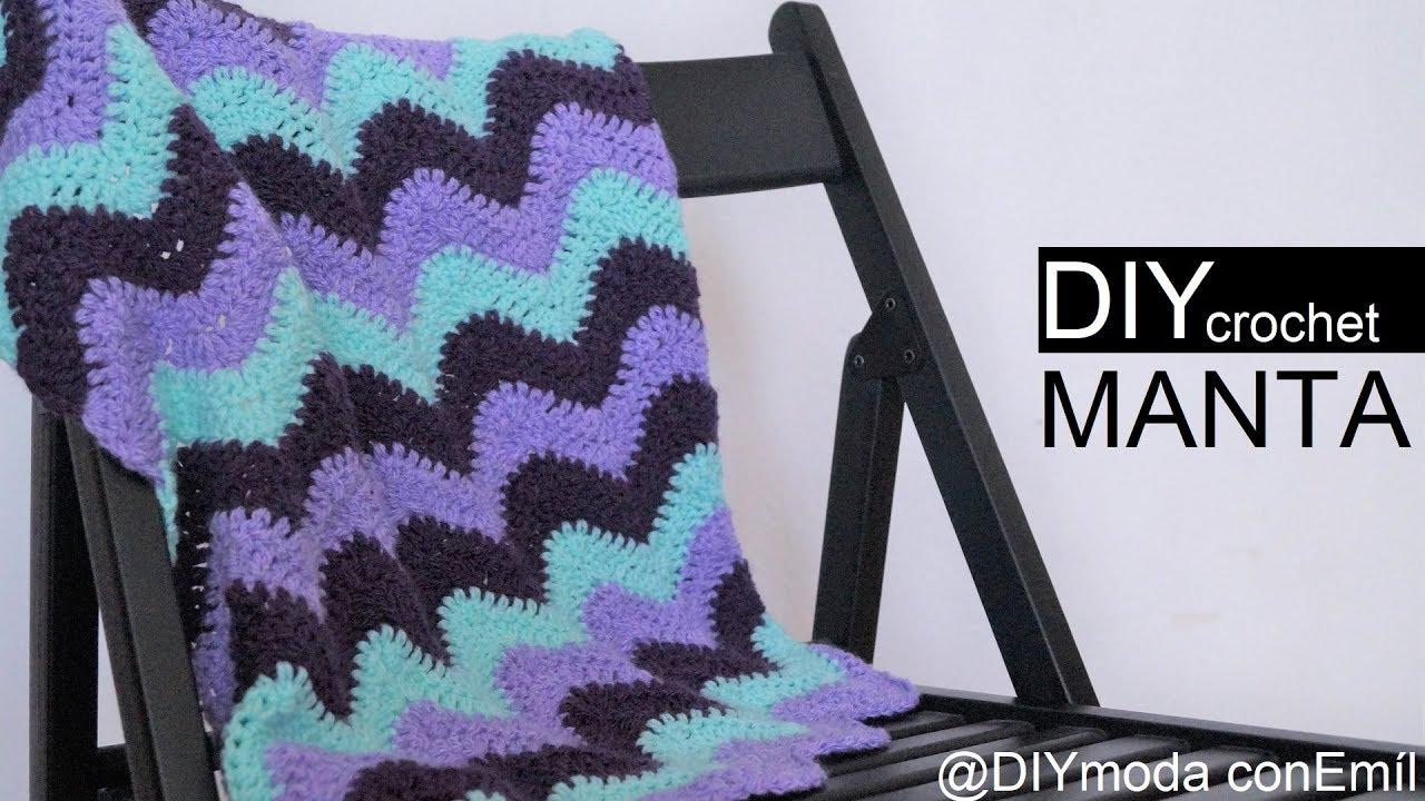 Colcha manta Zig Zag tejida a crochet paso a paso - YouTube