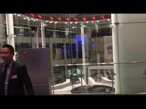 Tokyo stock exchange view