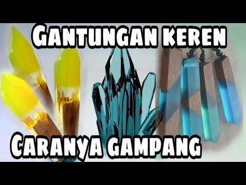 tutorial gantungan kunci resin / gantungan kunci / make wood pendant from resin thumbnail