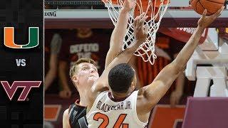 Miami vs. Virginia Tech Basketball Highlights (2018-19)