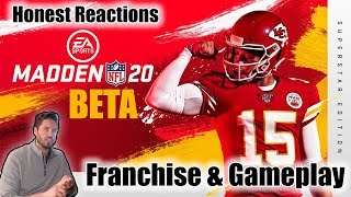 Madden 20 Beta Franchise & Gameplay Honest Reactions | Hats Off To EA Sports, This Game Is Good