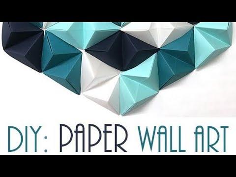 DIY ORIGAMI WALL DISPLAY DESIGN