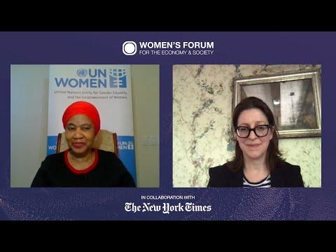 Phumzile Mlambo-Ngcuka talking about women during the pandemic. | Women's Forum