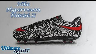 "Realistic Soccer Cleats ""Nike Hypervenom Phinish II"" (Speed Drawing)"