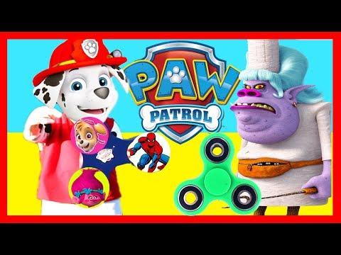 Nick Jr Paw Patrol Marshall Game Versus Trolls Villain Chef with Fidget Spinners, LOL Surprise Toys