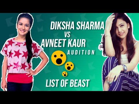 Diksha Sharma vs avneet kaur audition for commercial in ...