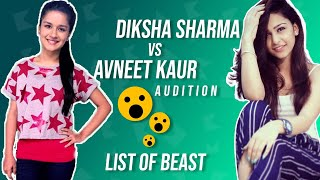 Diksha Sharma vs avneet kaur audition for commercial in hindi