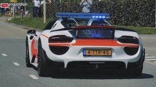 Recordpoging politie-Porsches