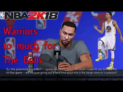 NBA 2K18 (My Career) -Justice VS Curry As The Bulls Take ON The Warriors