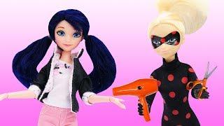 Леди Баг: Антибаг и Маринетт в салоне красоты. Видео для девочек.
