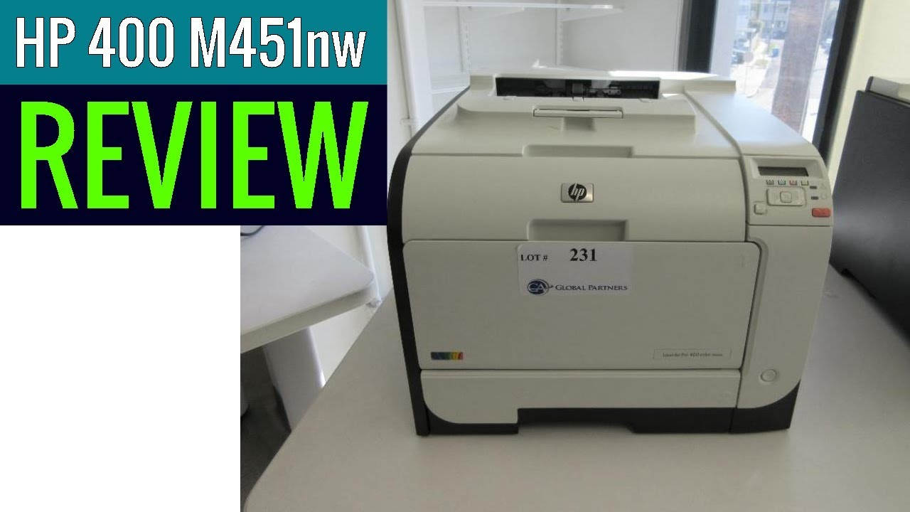 Hp Laserjet Pro 400 M451nw Color Printer Review Youtube