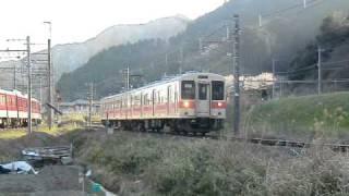 JR和歌山線 105系電車 吉野口駅~掖上駅