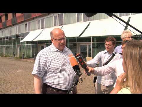 Bundesumweltminister Peter Altmaier zum Thema Haftungsregelung bei Offshore-Wind