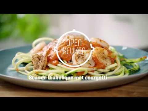 Scampi diabolique open keuken met sandra bekkari vtm koekn youtube