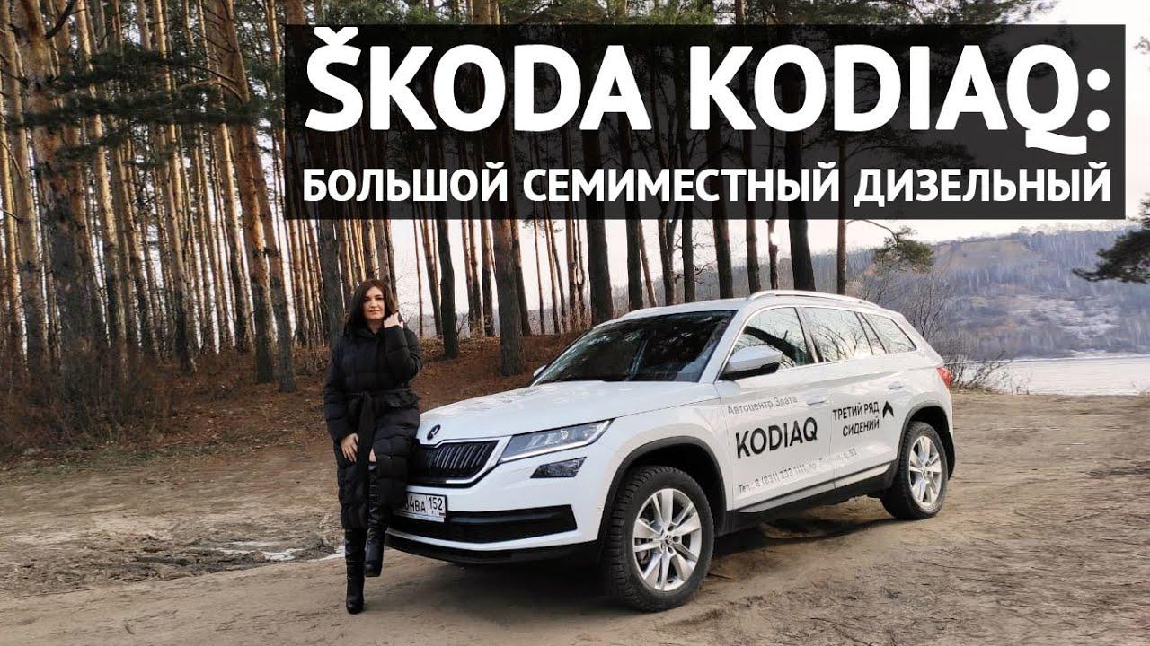 Обзор SKODA Kodiaq 2019: большой, семиместный, дизельный
