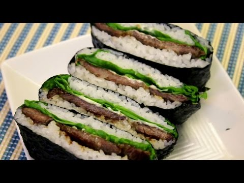 how-to-make-yakiniku-sandwich-(onigirazu)