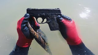 Gun Found in Pond! Possible Murder Weapon!? (POLICE CALLED) [SAM & SIMON]