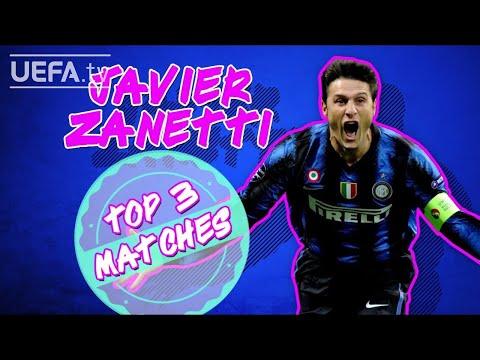 Which are Zanetti's three favourite matches with Internazionale in Europe?