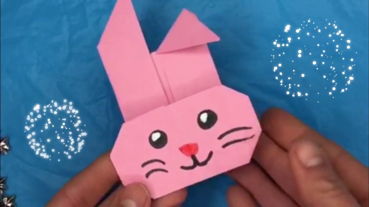 Cose Creative Con La Carta ♡ fai-da-te pasqua: come fare un coniglio con la carta? ♡ lavoretti con la  carta