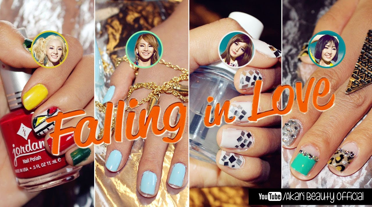 "kpop nails 2ne1 ""falling in love"""