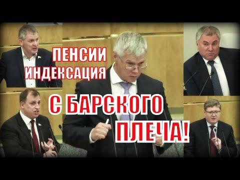 Обсуждение закона об индексации пенсий Володин превратил в базар!