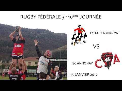 Rugby F3 FCTain Tournon vs CS Annonay 15 01 2017