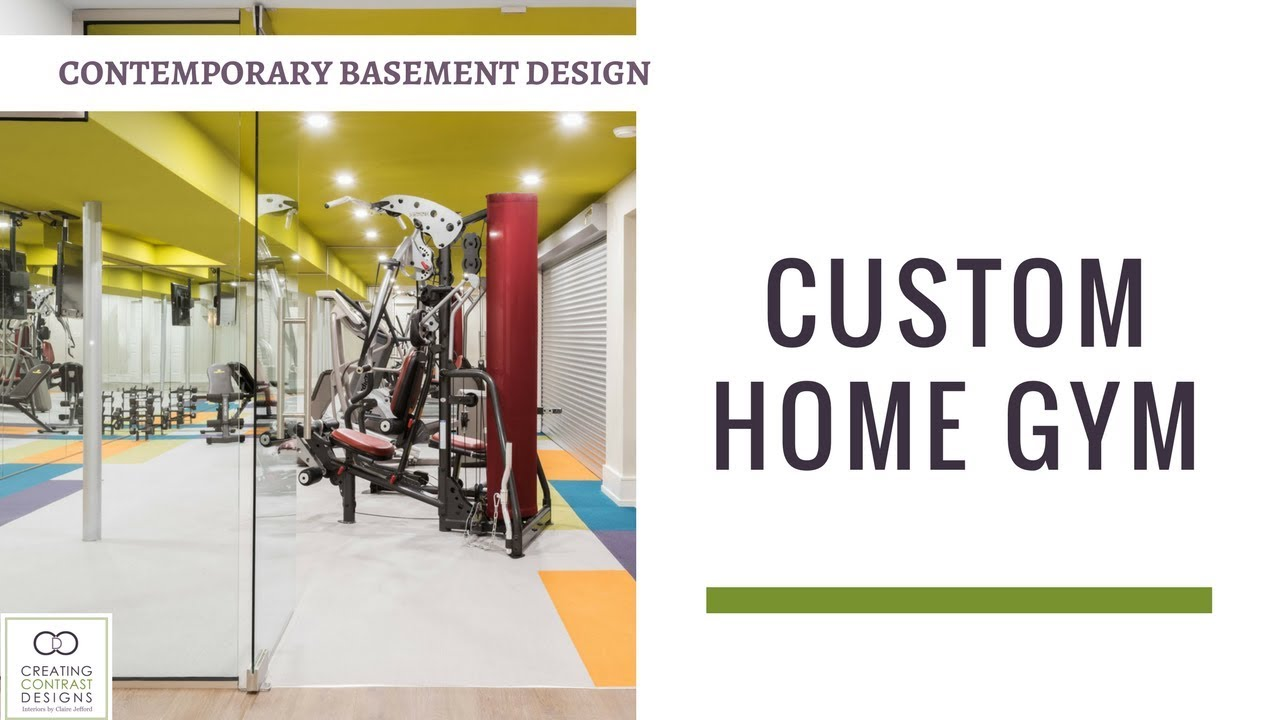 Home Gym Ideas - Interior Design Basement Gym - YouTube
