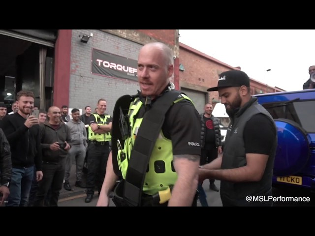 POLICE PULL G-WAGON @ MSL CHARITY MEET 2K19