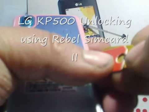 rebel sim ii unlocking LG KP500 to use on any network