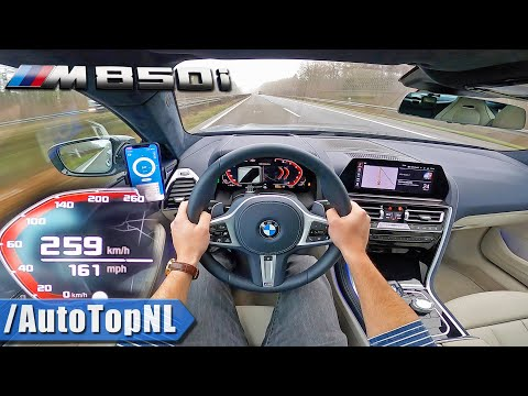BMW 8 Series GRAN COUPE M850i XDrive TOP SPEED On AUTOBAHN (NO SPEED LIMIT) By AutoTopNL